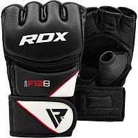 Перчатки для единоборств ММА RDX Rex Leather Black , фото 1