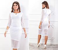 Костюм блуза + юбка кружево белый