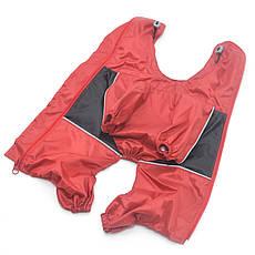 Дождевик для собак c капюшоном красный+черный, фото 2