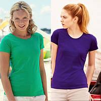 Женская футболка классическая 100% хлопок 61-372-0