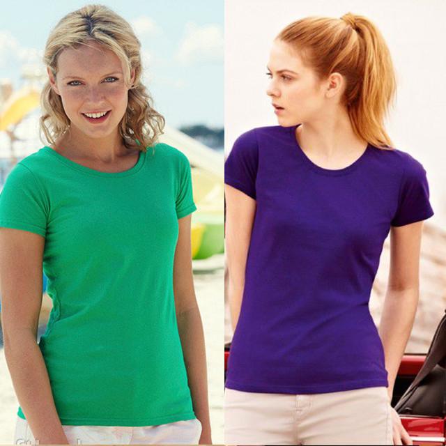 88840fb45b4e5 Женская футболка классическая 100% хлопок 61-372-0 - самая низкая ...