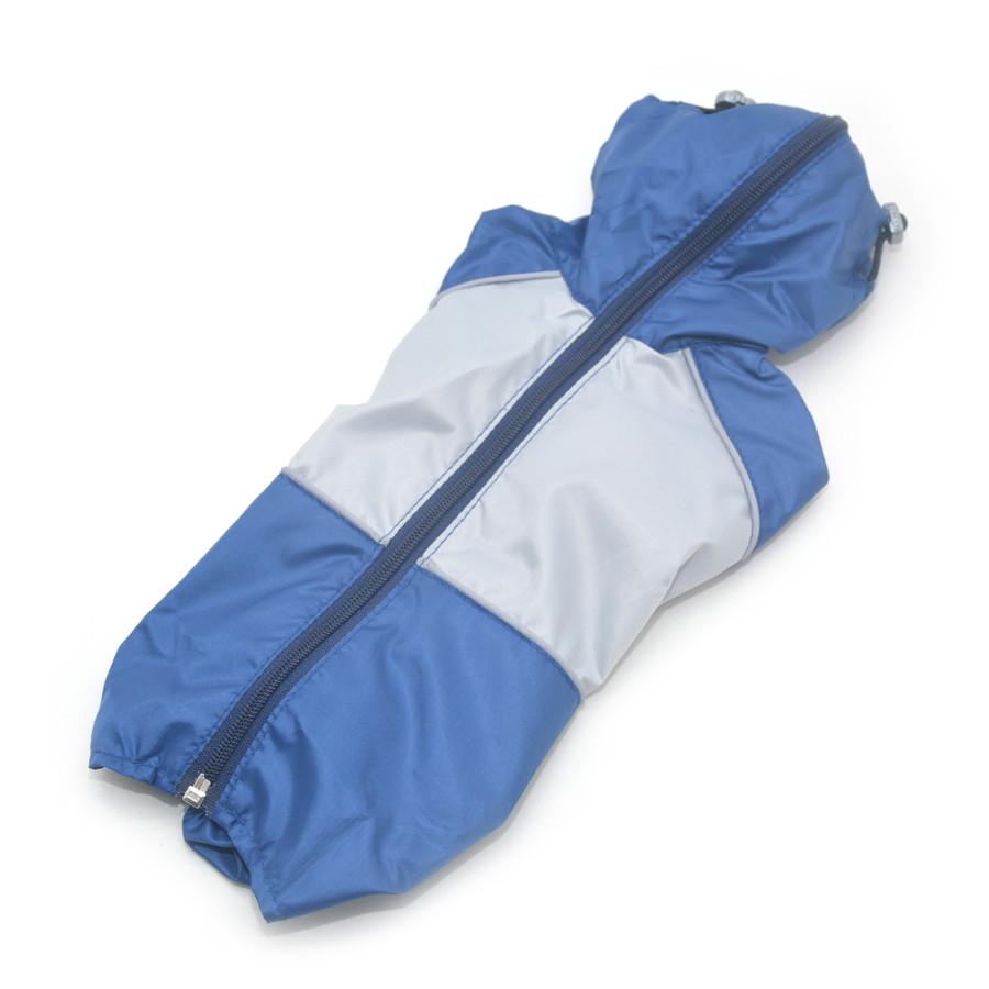 Дождевик для собак c капюшоном синий