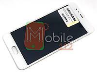 Модуль для Meizu M5s (M612)/M5s mini Дисплей + тачскрин, белый, с передней панелью