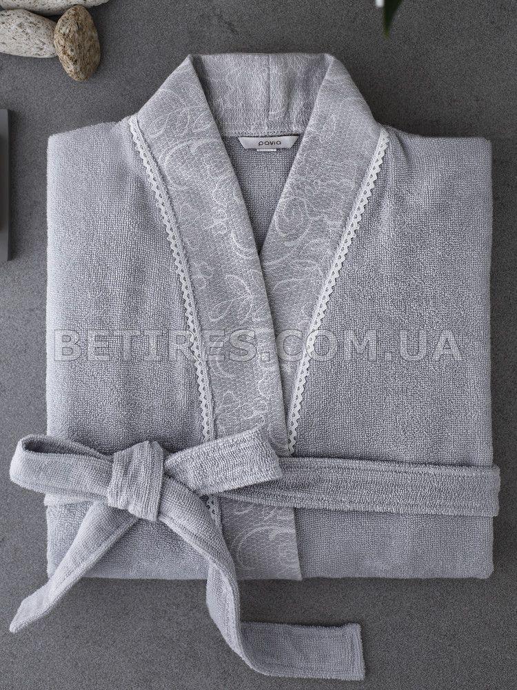 Халат жіночий PAVIA AMELIE GREY(GRI) (XL)сірий