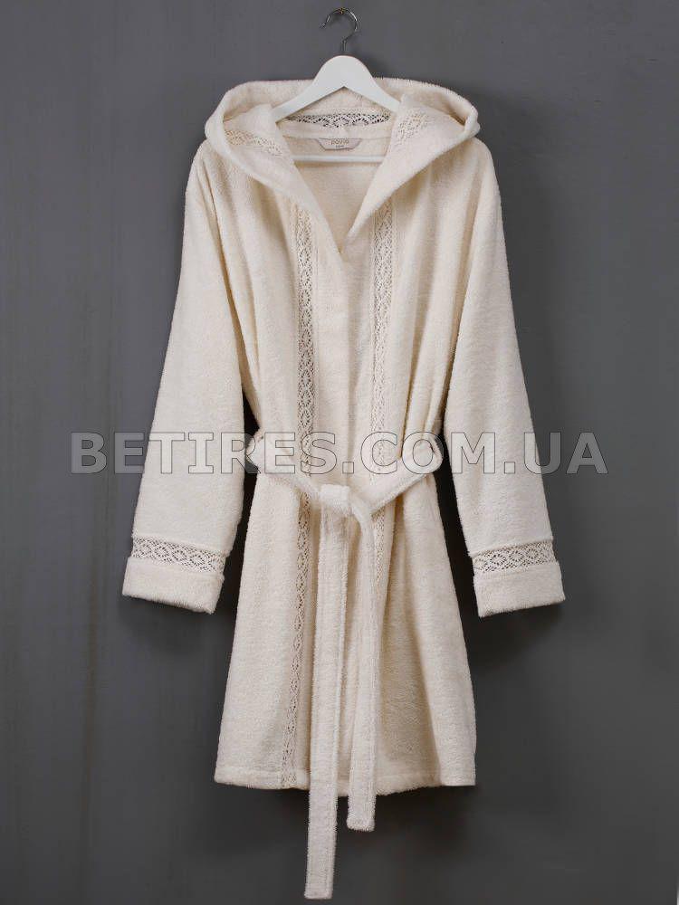 Халат женский PAVIA VANESSA ECRU(EKRU) (XL) кремовый