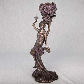Подсвечник Veronese Леди в цветах 38 см (10450 A4)