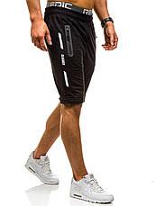 Черные мужские спортивные шорты XXL, фото 3