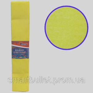 Креп-бумага 100%, светло-желтый