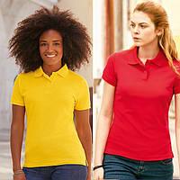 Женская футболка поло 65/35 Fruit of the loom 63-212-0, фото 1