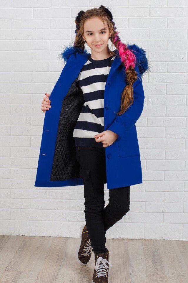 Пальто LiLove 333-2 140 синий