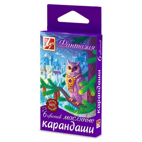 Карандаши масляные Луч Фантазия 6цв круглые (290264)