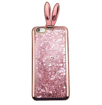 Чехол накладка xCase на iPhone 6/6s с ушками, розовое-золото