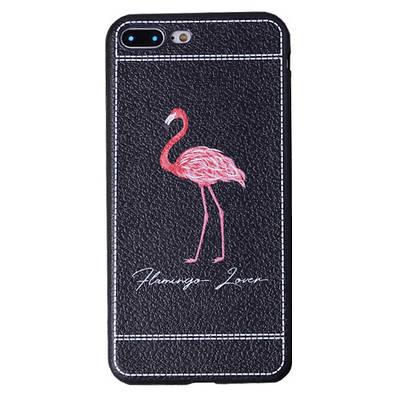 Чехол накладка xCase на iPhone 6/6s фламинго под кожу №1
