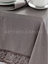 Скатерть 160x160 ISSIMO BRITTANY BROWN (KAHVE) коричневая