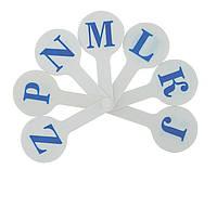 Веер Zibi набор бкув английский алфавит ZB.4903