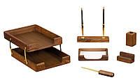 Набор настольный Bestar деревянный 6пр. орех 6280WDN