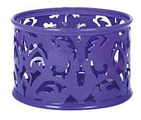 """Подставка для скрепок Barocco"""" 85х53мм металлическая фиолетовый"""