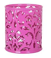 """Подставка для ручек Barocco"""" 83х100мм металлическая розовый"""