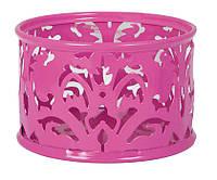 """Подставка для скрепок Barocco"""" 85х53мм металлическая розовый"""