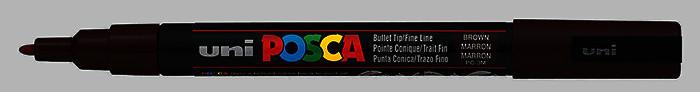 Маркер uni POSCA 0.9-1.3мм чёрный