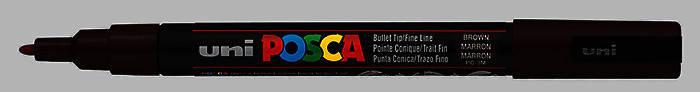 Маркер uni POSCA 0.9-1.3мм чёрный, фото 2