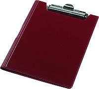 Клипборд-папка А4 винил бордовый