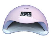 Гибридная светодиодная UV/LED лампа SUN 5 на 48 вт/24 (Сан ван ) с таймером 10,30,60 сек.Розовая.