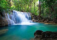 Фотообои виниловые 3D 416x290 см Небольшой водопад (11893WVZXXXXL)