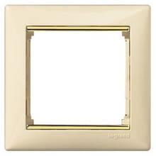 Рамка 1 пост. Слонова кістка, золото, Legrand Valena 774151