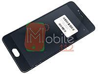 Модуль для Meizu M5s (M612)/M5s mini Дисплей + тачскрин, черный с передней панелью