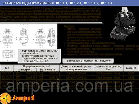Зажим прокалывающий ЗВ 1.1.1 (16-95/6-35) ЛИЗО, фото 2