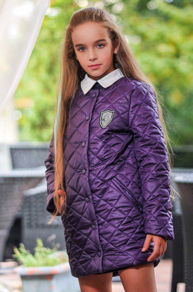 Куртка LiLove 300-1 146 фиолетовый