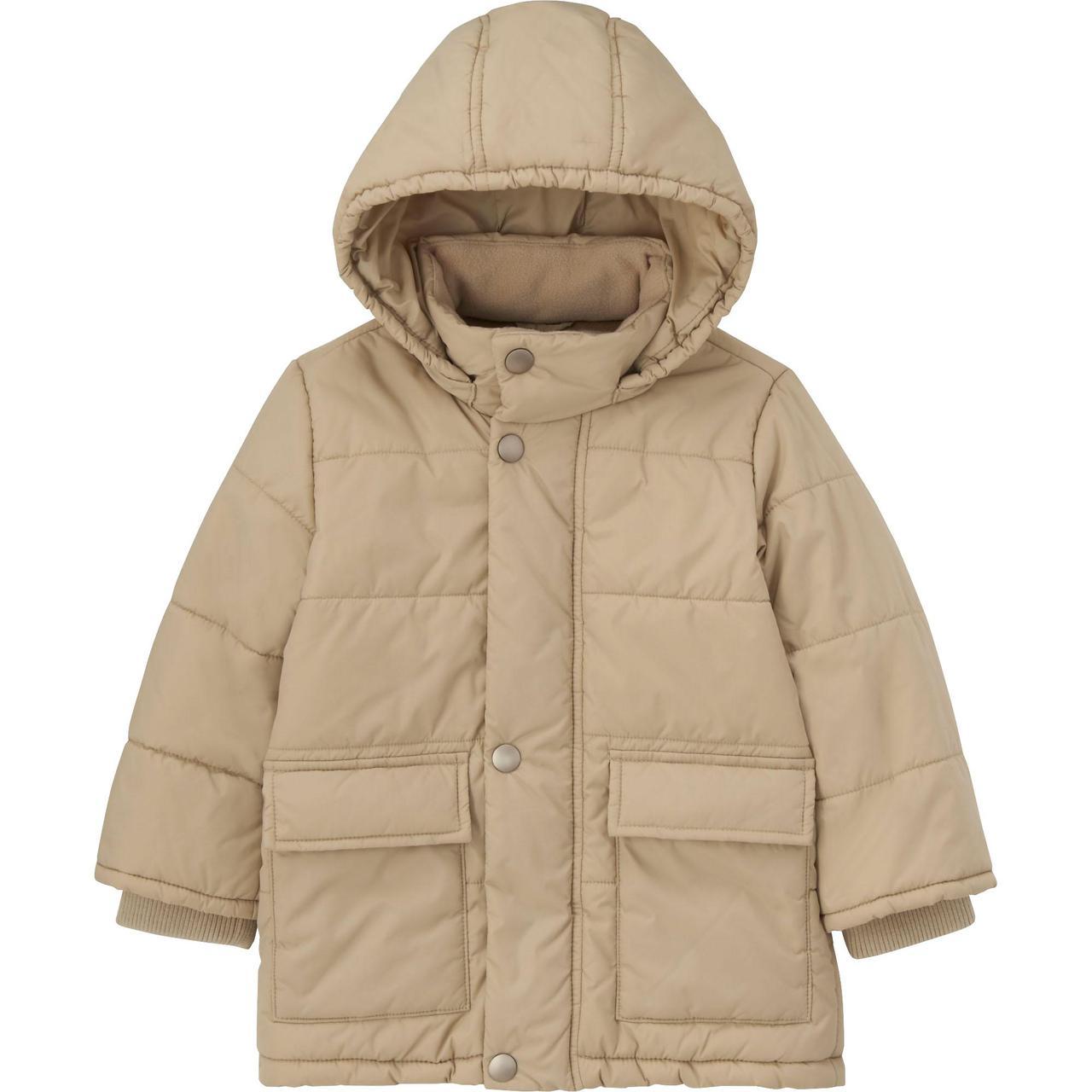 Куртка детская Uniqlo toddler body warm lite coat BIEGE