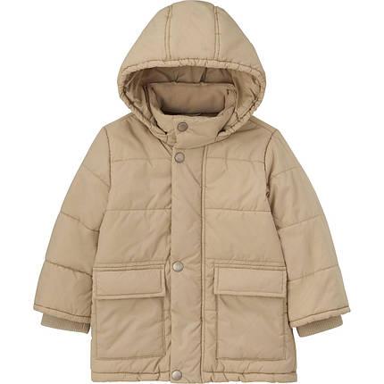 Куртка детская Uniqlo toddler body warm lite coat BIEGE, фото 2