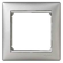 Рамка 1 пост. Алюміній/срібло, Legrand Valena 770351