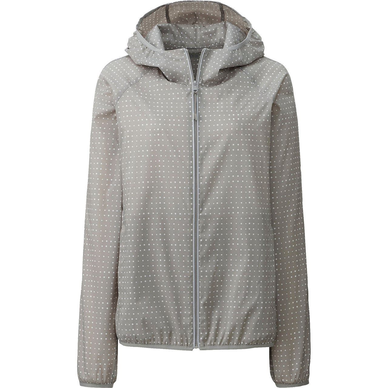 Куртка Uniqlo Women Light Pocketable Printed Parka GRAY