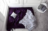 Комплект постельного белья из сатина полуторный Аметист роял