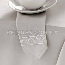 Набор салфеток 40х40 ISSIMO CHRISTY (6шт.) бежево-серый