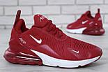 """Чоловічі кросівки Nike Air Max 270 """"Red/White"""" . Живе фото. Топ репліка, фото 2"""