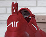 """Чоловічі кросівки Nike Air Max 270 """"Red/White"""" . Живе фото. Топ репліка, фото 3"""