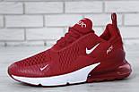 """Чоловічі кросівки Nike Air Max 270 """"Red/White"""" . Живе фото. Топ репліка, фото 4"""
