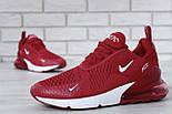"""Чоловічі кросівки Nike Air Max 270 """"Red/White"""" . Живе фото. Топ репліка, фото 5"""