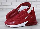 """Чоловічі кросівки Nike Air Max 270 """"Red/White"""" . Живе фото. Топ репліка, фото 6"""