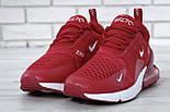 """Чоловічі кросівки Nike Air Max 270 """"Red/White"""" . Живе фото. Топ репліка, фото 7"""