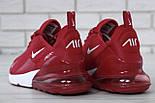 """Чоловічі кросівки Nike Air Max 270 """"Red/White"""" . Живе фото. Топ репліка, фото 8"""