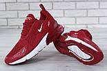 """Чоловічі кросівки Nike Air Max 270 """"Red/White"""" . Живе фото. Топ репліка, фото 9"""