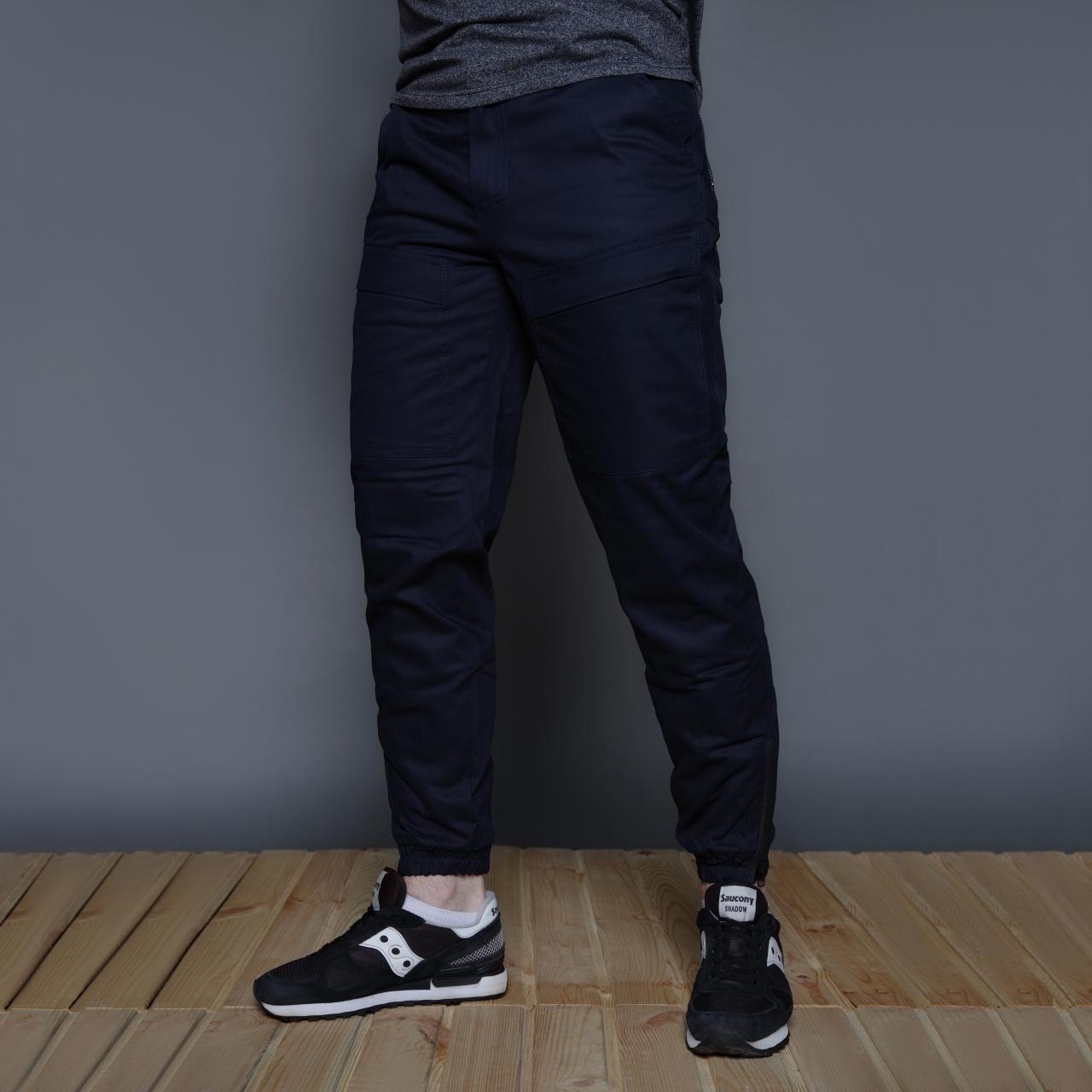 Теплые штаны карго на флисе мужские темно-синие бренд ТУР модель Тор (Thor) размер S, M, L, XL, XXL