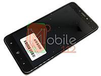 Дисплей для Xiaomi Redmi 4X, 4X Pro Дисплей + тачскрин черный, с передней панелью