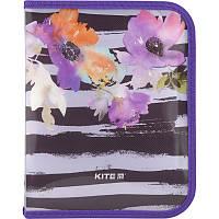 Папка для тетрадей на молнии Kite Flowers B5 K18-203-2
