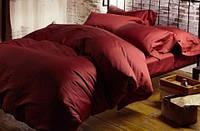 Комплект постельного белья из сатина полуторный Красное Вино роял